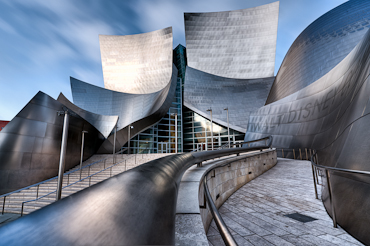 The Walt Disney Concert Hall in Los Angeles California